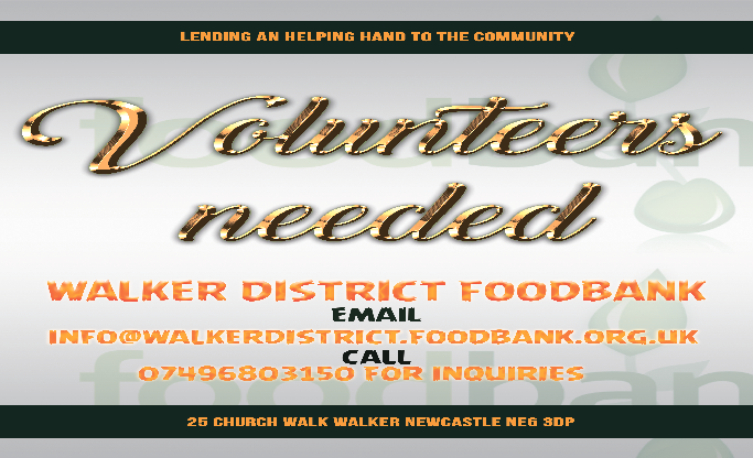 Volunteers Needed Walker District Foodbank